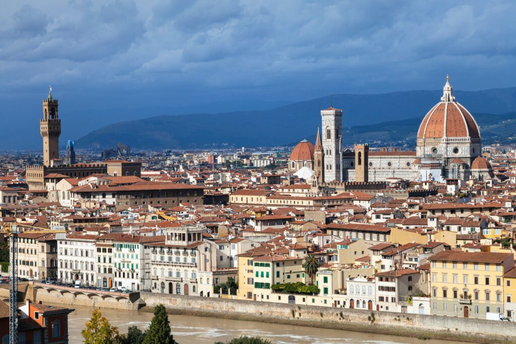 skyline of Florence with Cathedral and Palazzo